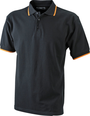 James & Nicholson - Polo Tipping (black/orange)