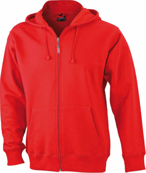 James & Nicholson - Men's Hooded Jacket (Red)