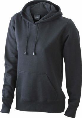 James & Nicholson - Ladies' Hooded Sweat (Black)