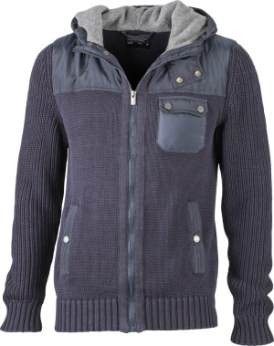 James & Nicholson – Men's Knitted Winter Cardigan