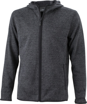 James & Nicholson – Men´s Knitted Fleece Hoody
