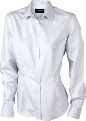 James & Nicholson – Ladies' Long-Sleeved Blouse (120 g/m²)