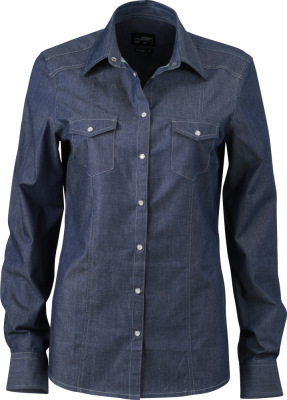 James & Nicholson – Ladies' Denim Blouse