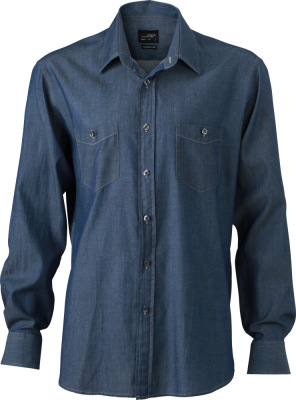 James & Nicholson – Men's Denim Shirt