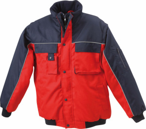 James & Nicholson - Workwear Jacket (red/navy)