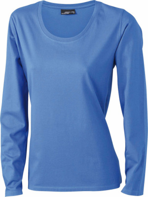 James & Nicholson - Ladies' Shirt Long-Sleeved Medium (Royal)