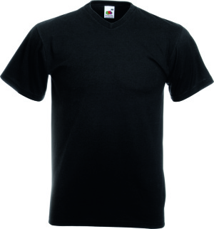Fruit of the Loom - Valueweight V-Neck T (Black)