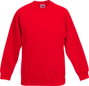 Fruit of the Loom - Kids Raglan Sweat (Red)