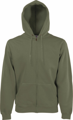 Fruit of the Loom - Hooded Sweat-Jacket (Classic Olive)