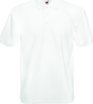 Fruit of the Loom - 65/35 Heavy Piqué Polo (White)