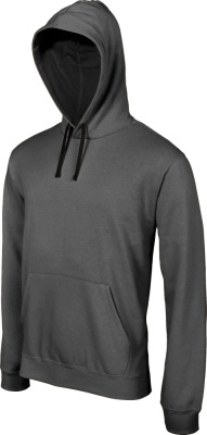 Kariban - Contrast Hooded Sweatshirt (Dark Grey (Solid)/Black)