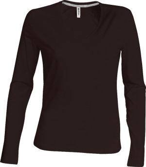 Kariban – Ladies Long Sleeve V-Neck T-Shirt