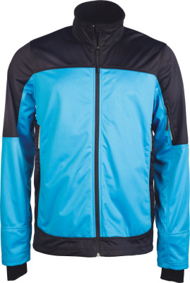 Kariban - Herren Bicolor Softshell Jacke (Aqua Blue/Black)