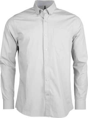 Kariban – Mens Long Sleeve Washed Popeline Shirt