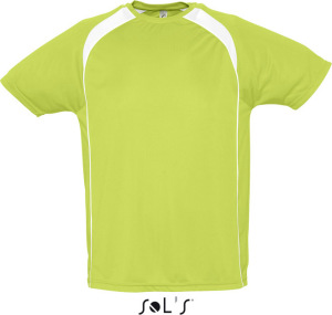 SOL'S - Mens T-Shirt Match (Apple Green/White)