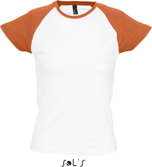 SOL'S - Women´s Raglan Colour-T Milky (White/Orange)