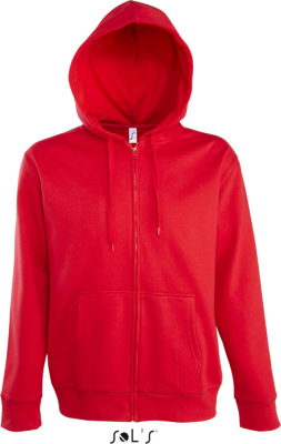 SOL'S - Men Hooded Zipped Jacket Seven (Red)