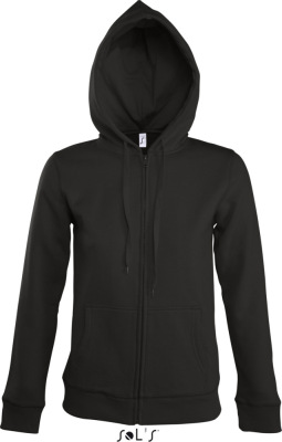 SOL'S - Women Hooded Zipped Jacket Seven (Black)