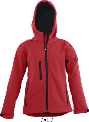 SOL'S - Kids Hooded Softshell Jacke Replay (Pepper Red)