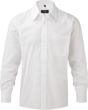Russell – Men´s Long Sleeve Poly-Cotton Easy Care Poplin Shirt
