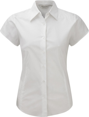 Russell - Stretchy Bluse Kurzarm (White)