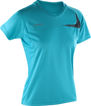 Spiro - Ladies Dash Training Shirt (Aqua/Grey)