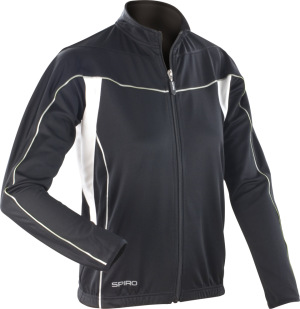 Spiro - Ladies Bikewear Long Sleeve Performance Top (Black/White)