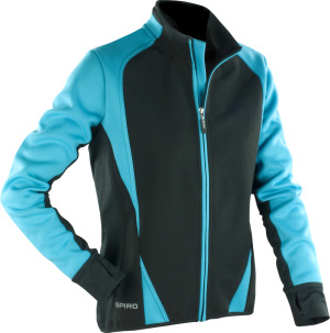 Spiro - Ladies Freedom Softshell Jacket (Aqua/Black)