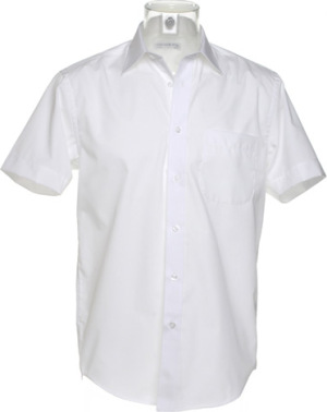 Kustom Kit - Business Poplin Shirt Shortsleeve (White)