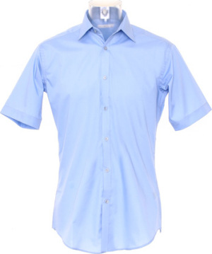 Kustom Kit – Slim Fit Business Shirt Short Sleeved