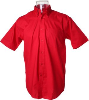 Kustom Kit - Workwear Oxford Shirt Shortsleeve (Red)