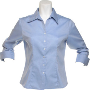 Kustom Kit - Women´s Corporate Oxford Shirt 3/4-Sleeve (Light Blue)