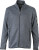 James & Nicholson - Herren Strickfleece Jacke (dark-grey-melange/silver)