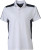 James & Nicholson - Herren Workwear Piqué Polo (white/carbon)