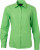 James & Nicholson - Popeline Bluse langarm (lime green)