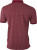 James & Nicholson - Herren Printed Polo (wine/white)