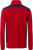 James & Nicholson - Workwear Halfzip Sweater (red/navy)