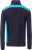 James & Nicholson - Herren Workwear Sweat Jacke (navy/turquoise)