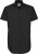 Poplin Shirt Black Tie Short Sleeve / Men (Herren)