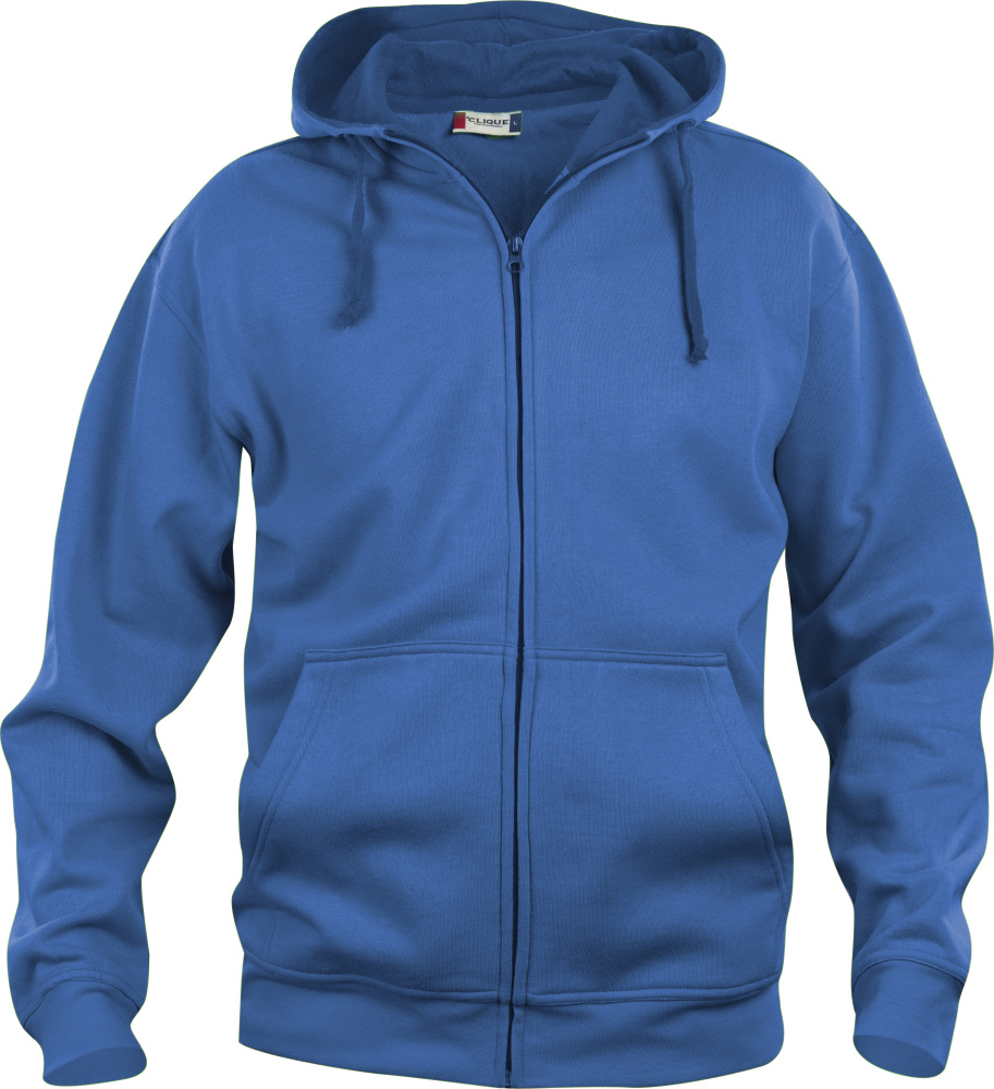 basic hoody full zip royal blue for embroidery and printing clique sweatshirts stickx. Black Bedroom Furniture Sets. Home Design Ideas