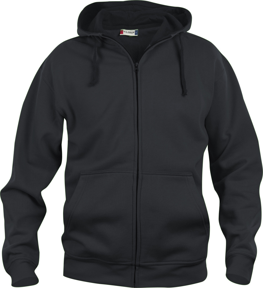 67542eb9dc Basic Hoody Full Zip (schwarz) for embroidery and printing - Clique ...