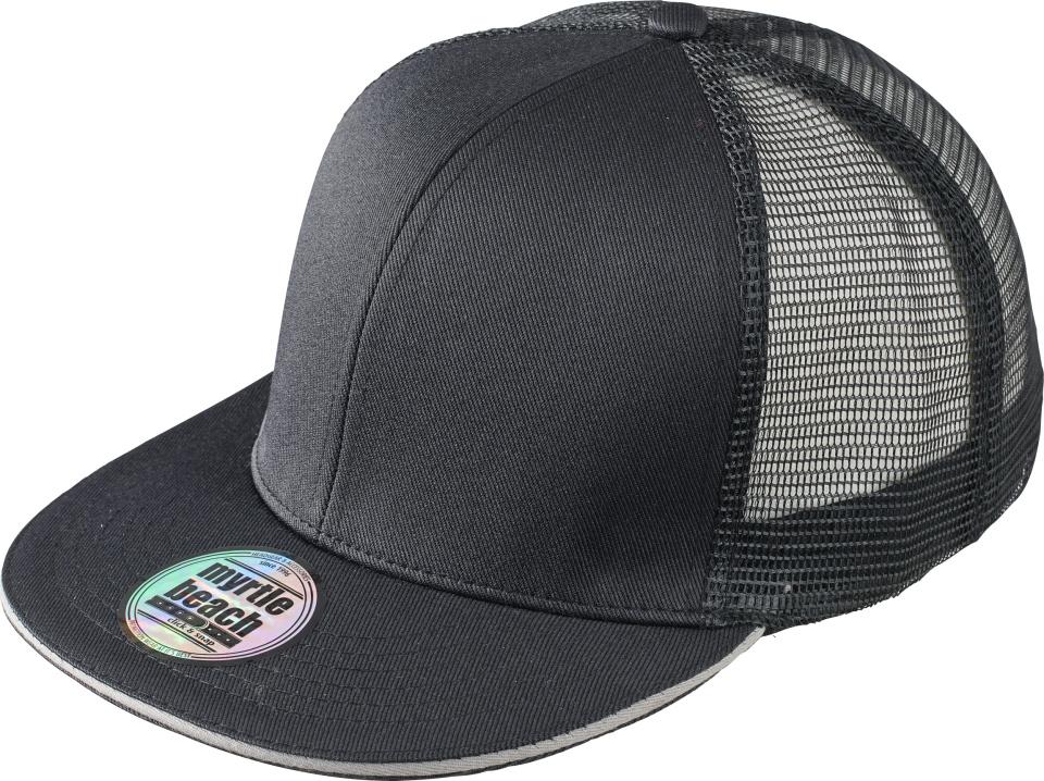 6f027294f5e 6-Panel Pro Mesh Sandwich Cap (black light-grey) for embroidery ...