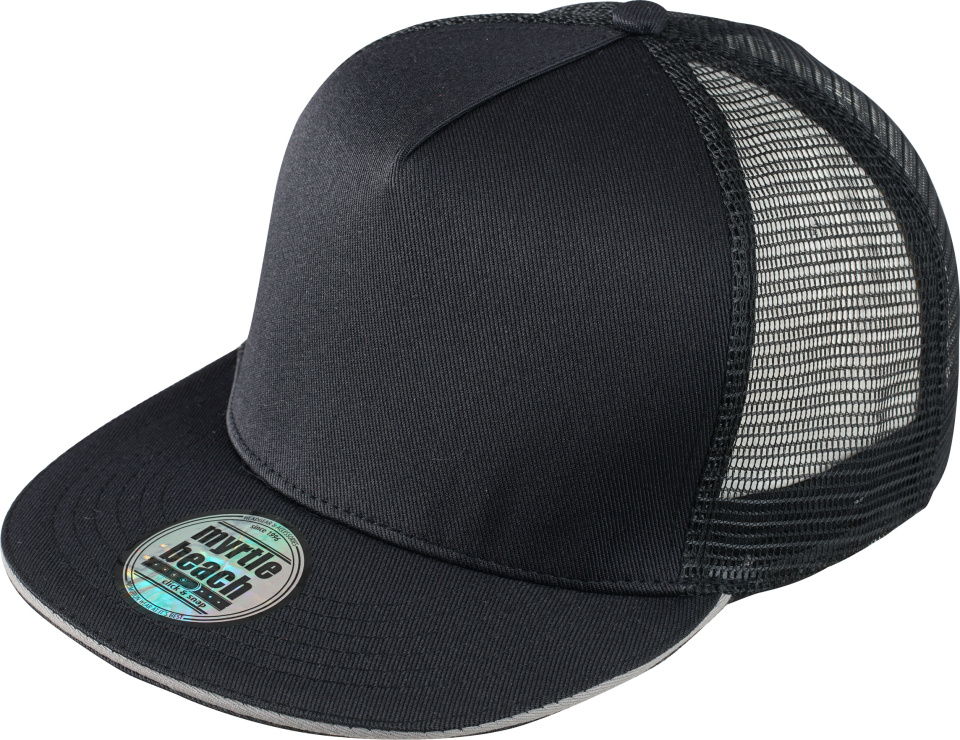 9c285ce0b81 5-Panel Pro Mesh Cap (black light-grey) for embroidery and printing ...