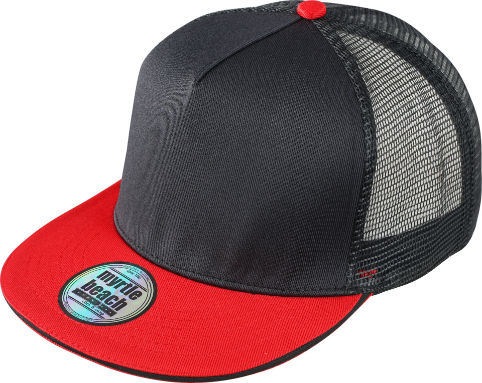 5bfbe55cda9 5-Panel Pro Mesh Cap (black red) for embroidery and printing ...