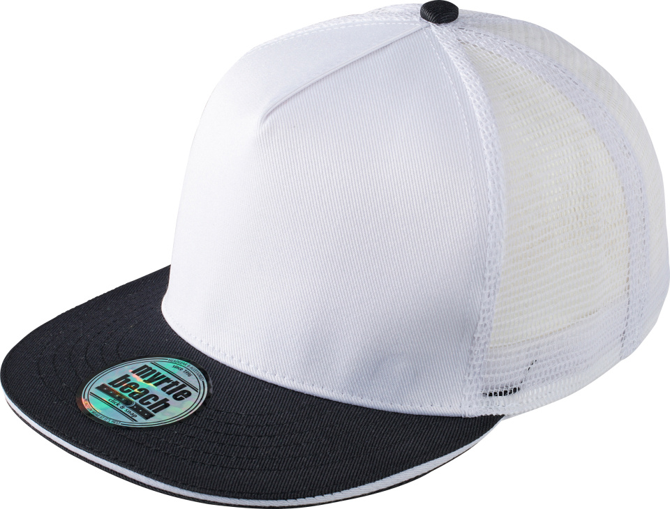 b0c8e92cf8f 5-Panel Pro Mesh Cap (white black) for embroidery and printing ...