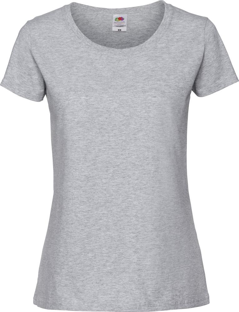 39594424e52202 Damen Ringspun Premium T-Shirt (heather grey) zum besticken und ...