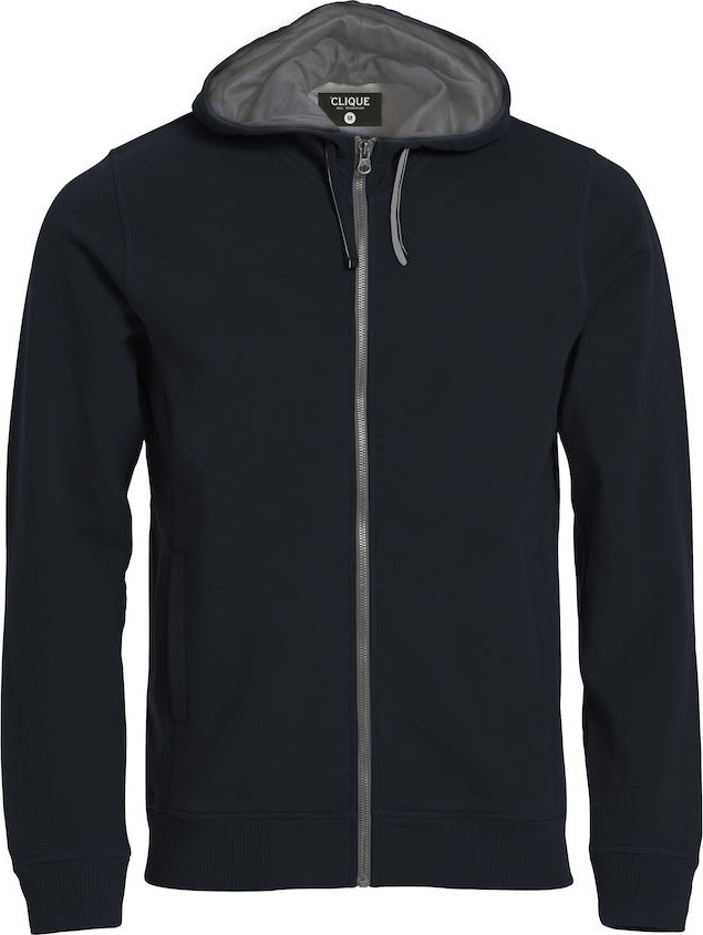 1653c0ffcc16 Classic Hoody Full Zip (schwarz) for embroidery and printing ...