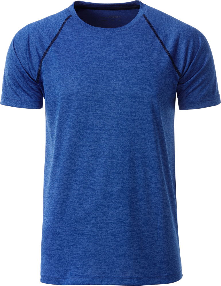 Men's Sport T-Shirt blue melange/navy