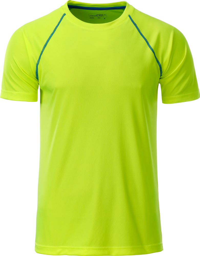 06aa9aabb0f Men's Sport T-Shirt (bright yellow/bright blue) for embroidery ...