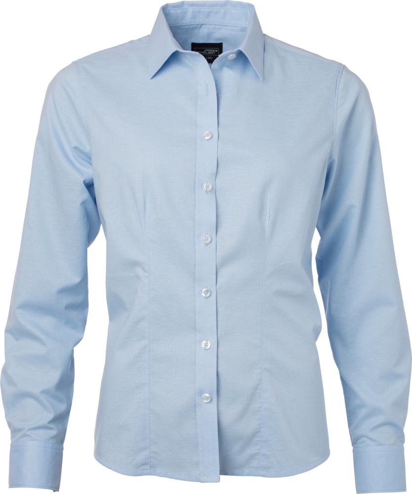 fc7c467a72314 Oxford Bluse langarm (light blue) zum besticken und bedrucken ...
